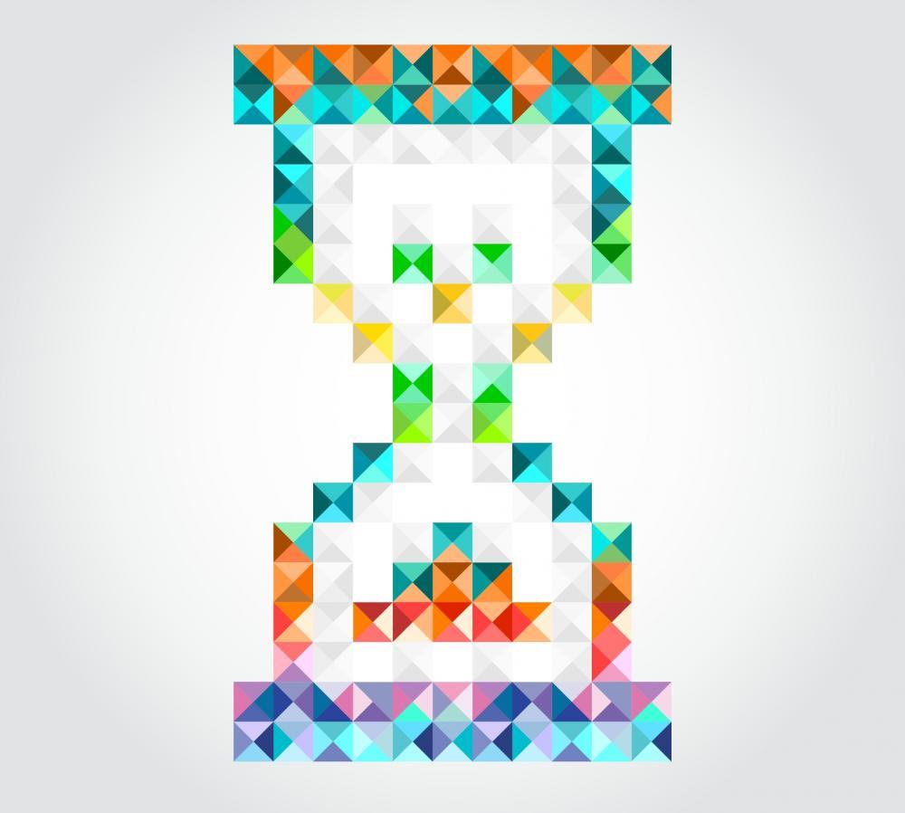 Hourglass cursor, stylised
